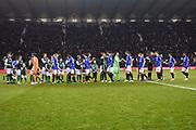 Teams meet ahead of the Ladbrokes Scottish Premiership match between Hibernian and Rangers at Easter Road, Edinburgh, Scotland on 19 December 2018.