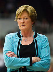 December 19, 2009; Stanford, CA, USA;  Tennessee Lady Volunteers head coach Pat Summitt during the second half against the Stanford Cardinal at Maples Pavilion.  Stanford defeated Tennessee 67-52.