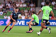 MELBOURNE, VIC - MARCH 01: Jack Maddocks (14) of the Melbourne Rebels runs the ball at The Super Rugby match between Melbourne Rebels and Highlanders on March 01, 2019 at AAMI Park, VIC. (Photo by Speed Media/Icon Sportswire)
