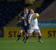 Dundee&rsquo;s Paul McGowan and Ross County's Tim Chow - Ross County v Dundee in the Ladbrokes Scottish Premiership at The Global Energy Stadium, Dingwall, Photo: David Young<br /> <br />  - &copy; David Young - www.davidyoungphoto.co.uk - email: davidyoungphoto@gmail.com