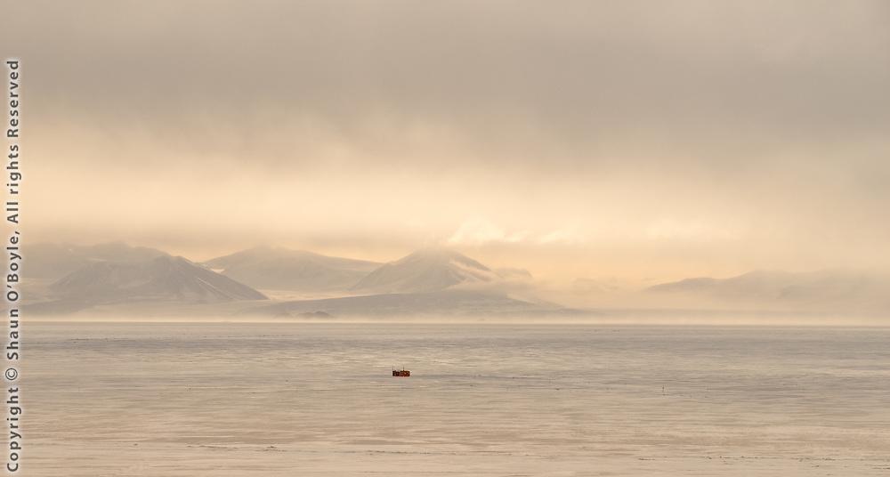 Dive hut on sea ice, McMurdo Sound, Antarctica