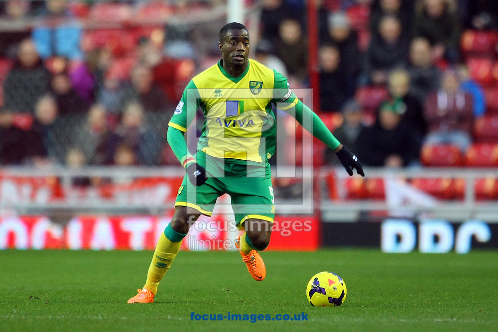 Picture by Paul Chesterton/Focus Images Ltd +44 7904 640267<br /> 21/12/2013<br /> Sebastien Bassong of Norwich in action during the Barclays Premier League match at the Stadium Of Light, Sunderland.