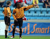 Fotball<br /> Treningskamp<br /> 21.07.2004<br /> FC Lyn Oslo v Wolverhampton 2-1<br /> Foto: Morten Olsen, Digitalsport<br /> <br /> Jody Craddock og Paul Ince - Wolves
