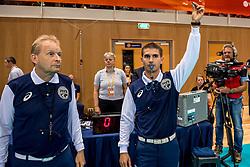 20-05-2018 NED: Netherlands - Slovenia, Doetinchem<br /> First match Golden European League / Toss, referee
