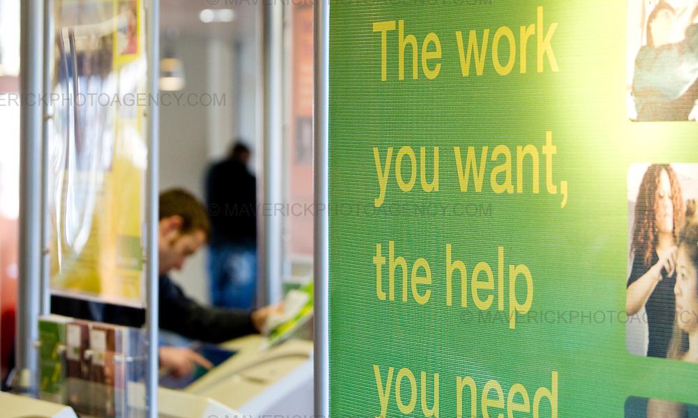 General Views of a Job Centre in Edinburgh as the National Statistics announces the latest job figures tomorrow..10/02/09 Michael Hughes/Maverick