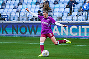 West Ham United Women forward Leanne Kiernan (8) warming up during the FA Women's Super League match between Manchester City Women and West Ham United Women at the Sport City Academy Stadium, Manchester, United Kingdom on 17 November 2019.
