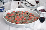 Gefilte Fish, stuffed fish, a traditional jewish dish, eaten mainly during the high holidays of Pessach and New Year