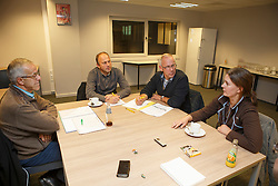 Govaerts Jef, Van Vuchelen Patrick, Corty Peter, Stevens Vicky, (BEL)<br /> Reportage veulen controleurs BWP - Oud Heverlee 2015<br /> © Dirk Caremans<br /> 28/10/15