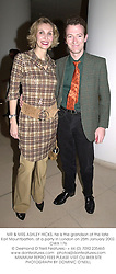 MR & MRS ASHLEY HICKS, he is the grandson of the late Earl Mountbatten, at a party in London on 25th January 2002.OWX 176