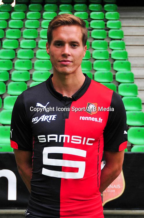 Anders KONRADSEN - 15.09.2014 - Photo officielle Rennes - Ligue 1 2014/2015<br /> Photo : Philippe Le Brech / Icon Sport