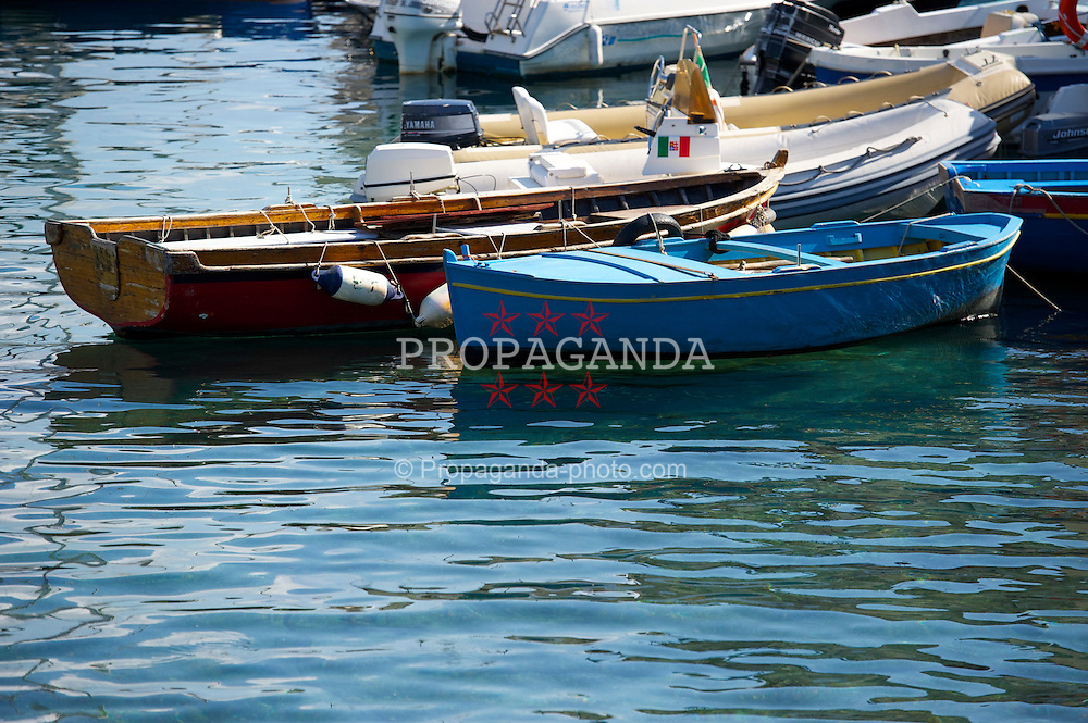 NAPELS, ITALY - Thursday, October 21, 2010: Boats in the harbour in the Italian city of Napels. (Pic by: David Rawcliffe/Propaganda)