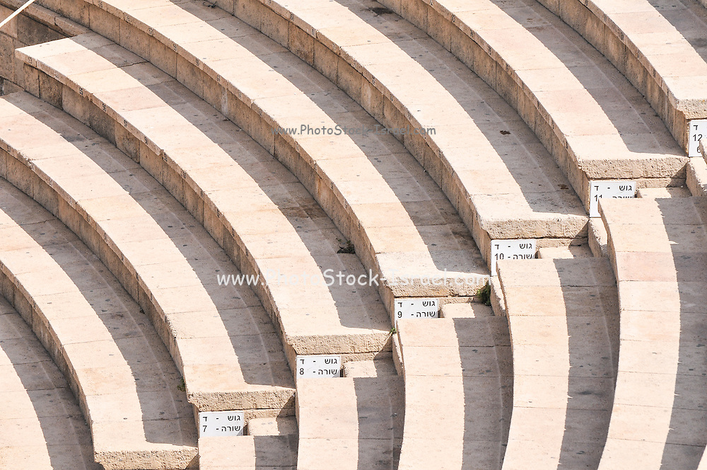 Israel, Caesarea, The amphitheater, on the city's southern shore Currently used for open air performances