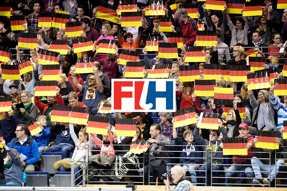 BERLIN - Indoor Hockey World Cup<br /> Quarterfinal 3: Germany - Poland<br /> foto: German fans.<br /> WORLDSPORTPICS COPYRIGHT FRANK UIJLENBROEK