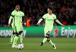 David Silva of Manchester City passes the ball - Mandatory by-line: Robbie Stephenson/JMP - 06/04/2016 - FOOTBALL - Parc des Princes - Paris,  - Paris Saint-Germain v Manchester City - UEFA Champions League Quarter Finals First Leg