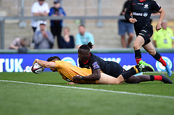 Jacob Umaga of Wasps in action - Mandatory byline: Patrick Khachfe/JMP - 07966 386802 - 14/09/2019 - RUGBY UNION - Franklin's Gardens - Northampton, England - Premiership Rugby 7s (Day 2)