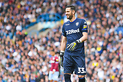 Francisco Casilla of Leeds United (33) in action during the EFL Sky Bet Championship match between Leeds United and Aston Villa at Elland Road, Leeds, England on 28 April 2019.