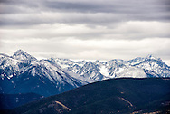 Absaroka Mountains, south of Livingston, Montana, fresh snow