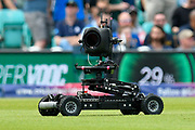 A remote control camera drives on the outfield during the drinks break during the ICC Cricket World Cup 2019 match between England and South Africa at the Oval, London, United Kingdom on 30 May 2019.
