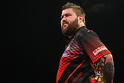 Michael Smith during the Grand Slam of Darts, at Aldersley Leisure Village, Wolverhampton, United Kingdom on 11 November 2019.