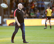 Dragons' Head Coach Bernard Jackman during the pre match warm up<br /> <br /> Photographer Simon King/Replay Images<br /> <br /> Guinness PRO14 Round 1 - Dragons v Benetton Treviso - Saturday 1st September 2018 - Rodney Parade - Newport<br /> <br /> World Copyright &copy; Replay Images . All rights reserved. info@replayimages.co.uk - http://replayimages.co.uk
