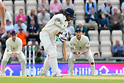 Shikhar Dhawan of India batting during the first day of the 4th SpecSavers International Test Match 2018 match between England and India at the Ageas Bowl, Southampton, United Kingdom on 30 August 2018.