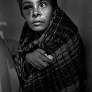 A woman who was found beating herself in the downtown of Ciudad Juarez, Mexico seen in a privately run shelter for the mentally ill west of the city. Due to a lack of state social infrastructure many people with extreme mental illnesses are brought here..(Credit Image: © Louie Palu/ZUMA Press).