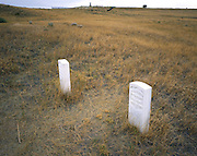 AA02267-03...MONTANA - Grave markers and Last Stand Hill at Custer Battlefield in Little Bighorn Battlefield National Monument.