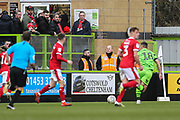 Cotswold Cheltenham Ad board during the EFL Sky Bet League 2 match between Forest Green Rovers and Walsall at the New Lawn, Forest Green, United Kingdom on 8 February 2020.