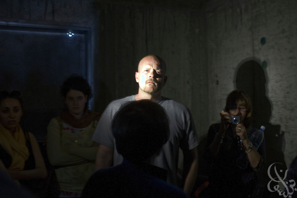 "Samuel J. Wurzelbacher, better known as ""Joe the Plumber"", ducks into a bomb shelter during a rocket attack while on assignment as a war correspondent  January 11, 2009 in Sderot, Israel. Wurzelbacher, who rose to fame during the 2008 election after questioning then presidential candidate Barack Obama about his tax plan, is in the region for about 10 days  to report for the conservative web site Pajamas TV (www.pjtv.com.)"