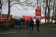 Early arrivals at the stadium during the The FA Cup fourth round match between Accrington Stanley and Derby County at the Fraser Eagle Stadium, Accrington, England on 26 January 2019.