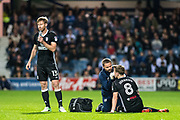 Fulham (8) Stefan Johansen, Fulham (13) Tim Ream  during the EFL Sky Bet Championship match between Queens Park Rangers and Fulham at the Loftus Road Stadium, London, England on 29 September 2017. Photo by Sebastian Frej.