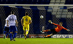 James Vaughan of Bury scores his sides first goal from the penalty spot - Mandatory by-line: Matt McNulty/JMP - 14/03/2017 - FOOTBALL - Gigg Lane - Bury, England - Bury v Bristol Rovers - Sky Bet League One