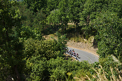 Race leader Anna van der Breggen and Annemiek van Vleuten lead the third group on the climb on Stage 8 of the Giro Rosa - a 141.8 km road race, between Baronissi and Centola fraz. Palinuro on July 7, 2017, in Salerno, Italy. (Photo by Sean Robinson/Velofocus.com)