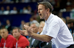 Head coach of France Vincent Collet during the EuroBasket 2009 Quaterfinals match between Spain and France, on September 17, 2009 in Arena Spodek, Katowice, Poland.  (Photo by Vid Ponikvar / Sportida)