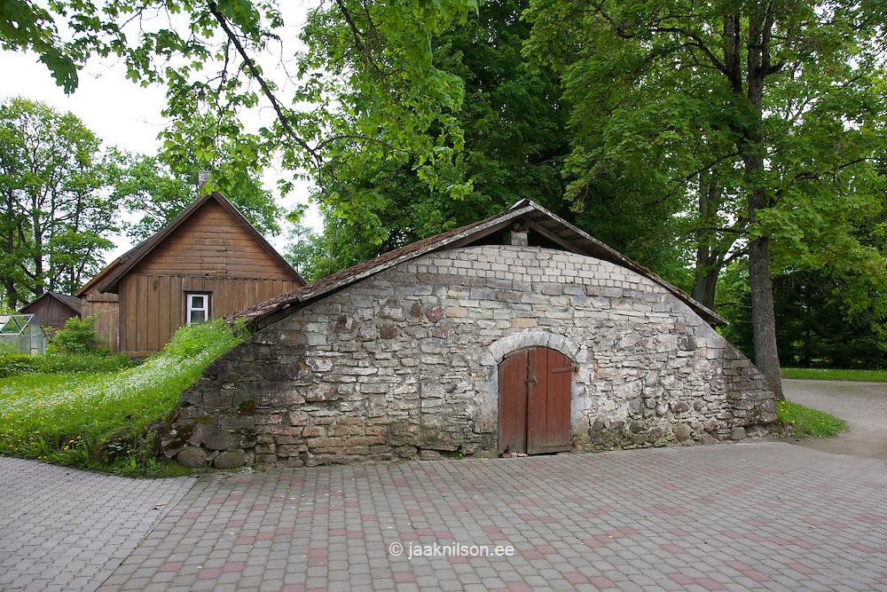 Cellar, Laupa Manor, Järva County, Estonia, Europe