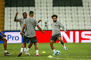 Liverpool striker Mohamed Salah (11) during the Liverpool Training session ahead of the 2019 UEFA Super Cup Final between Liverpool FC and Chelsea FC at BJK Vodafone Park, Istanbul, Turkey on 13 August 2019.