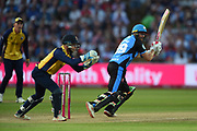 Riki Wessels of Worcestershire Rapids batting during the Vitality T20 Finals Day 2019 match between Worcestershire County Cricket Club and Essex County Cricket Club at Edgbaston, Birmingham, United Kingdom on 21 September 2019.
