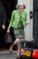 Image ©Licensed to i-Images Picture Agency. 08/07/2014. London, United Kingdom. Theresa May leaves No10 after cabinet meeting. 10 Downing Street. Picture by Daniel Leal-Olivas / i-Images