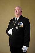 Anaheim , California - April 11, 2015: King Christopher I of Vikesland. His micronation is surrounded by the snowy Province of Manitoba, Canada. His portrait is made during the MicroCon 2015 Cotillion at the Unitarian Universalist Church in Anaheim, CA, Saturday April 11, 2015.<br /> CREDIT: Matt Roth