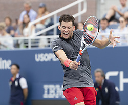 August 31, 2018 - New York, New York, United States - Dominic Thiem of Austria returns ball during US Open 2018 3rd round match against Taylor Fritz of USA at USTA Billie Jean King National Tennis Center (Credit Image: © Lev Radin/Pacific Press via ZUMA Wire)