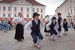 Folk Dancers, Tartu Town Hall, Estonia, Europe