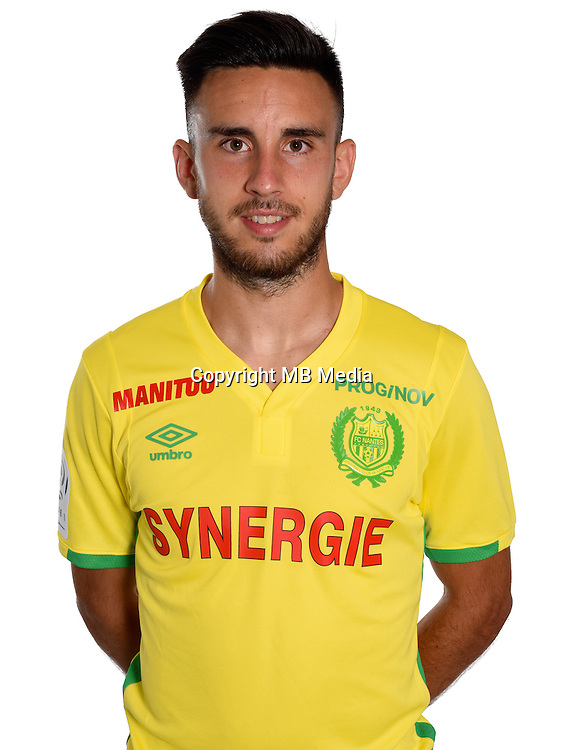 Adrien Thomasson during photocall of Fc Nantes for new season of Ligue 1 on September 14th 2016<br /> Photo : Fcna / Icon Sport