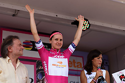 Megan Guarnier (Boels Dolmans) retains the sprinters jersey at Giro Rosa 2016 - Stage 3. A 120 km road race from Montagnana to Lendinara, Italy on July 4th 2016.