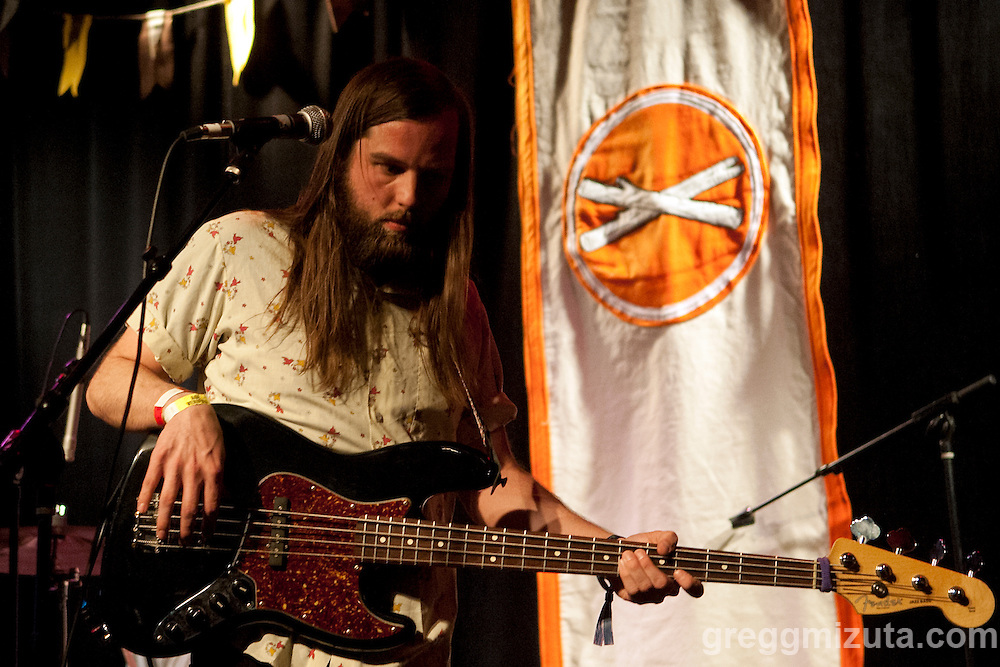 The band Aaron Mark Brown performs at the Linen Building during Day 2 of the Treefort Music Fest on March 24, 2016 in Boise, Idaho. (Gregg Mizuta/www.greggmizuta.com)