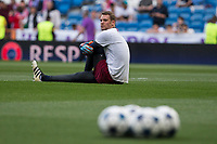 Manuel Neuer of FC Bayern Munchen during the match of Champions League between Real Madrid and FC Bayern Munchen at Santiago Bernabeu Stadium  in Madrid, Spain. April 18, 2017. (ALTERPHOTOS)