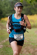 New Paltz, New York - Laura Kline runs through the Mohonk Preserve during the Shawangunk Ridge Trail Run/Hike 20-mile race  on Sept. 20, 2014.