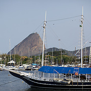 A schooner on the water at Gloria Marina, Rio de Janeiro,  Brazil. 20th September 2010. Photo Tim Clayton.