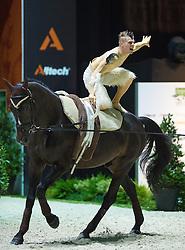 Jacques Ferrari, (FRA), Poivre Vert, Francois Athimon - Individuals Men Final Vaulting - Alltech FEI World Equestrian Games™ 2014 - Normandy, France.<br /> © Hippo Foto Team - Jon Stroud<br /> 05/09/2014