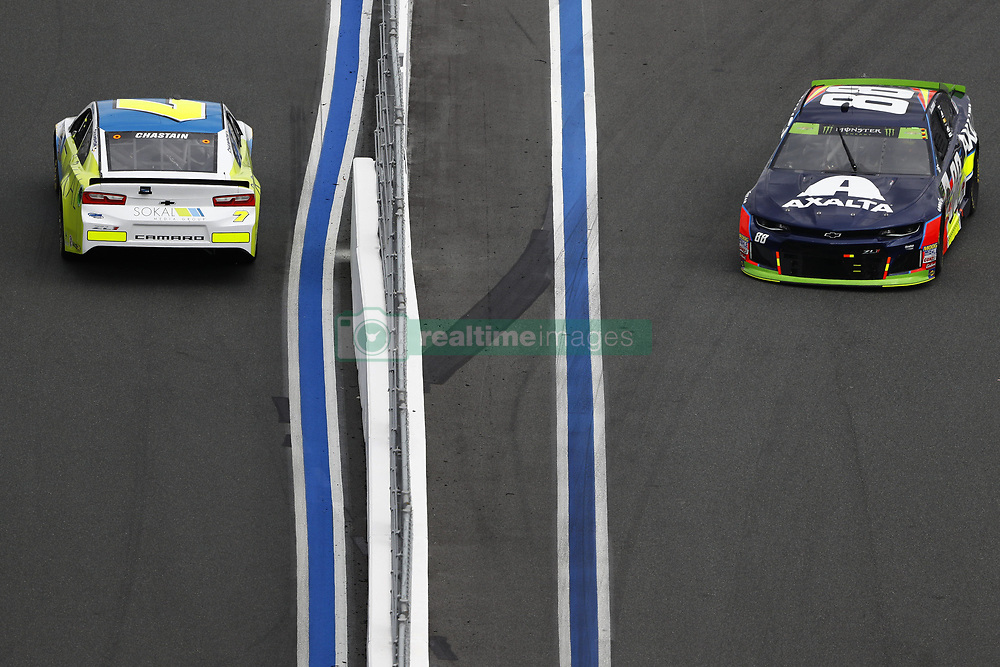 September 30, 2018 - Concord, North Carolina, United States of America - Alex Bowman (88) races during the Bank of America ROVAL 400 at Charlotte Motor Speedway in Concord, North Carolina. (Credit Image: © Chris Owens Asp Inc/ASP via ZUMA Wire)