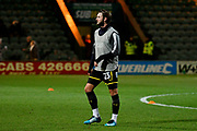 Callum Kennedy (23) of AFC Wimbledon warming up before the EFL Trophy match between Yeovil Town and AFC Wimbledon at Huish Park, Yeovil, England on 5 December 2017. Photo by Graham Hunt.